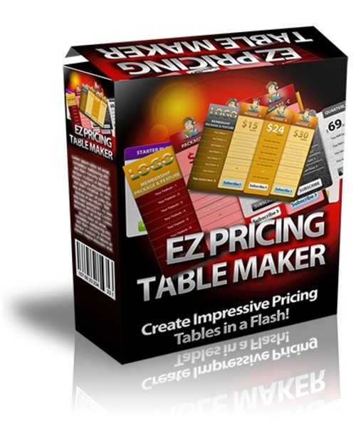Product picture EZ Pricing Table Maker